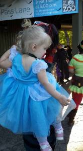 Victoria as Cinderella at 'Boo at the Zoo""